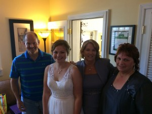 The beautiful bride with her family